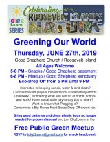 June 27th, Roosevelt Island's Big Push To Go Green